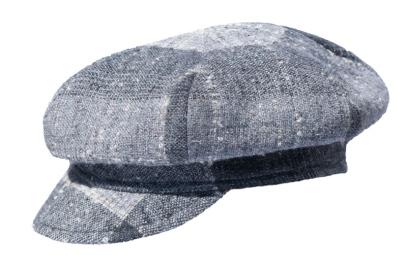 Grey Plaid Gatsby Style Hat