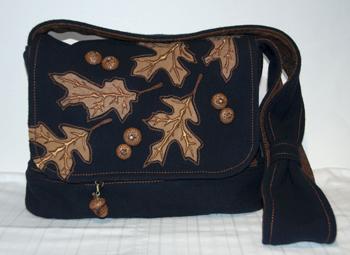 Oak and Acorn Bag Front