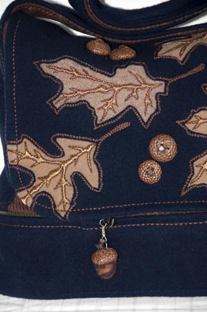 Oak and Acorn Bag Detail